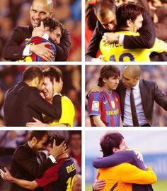 Pep Guardiola & Leo Messi