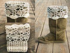 Mariposa bootcuffs  by The Crochet Lounge http://thecrochetlounge.com/mariposas-boot-cuffs-free-crochet-pattern/