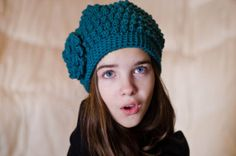 Ocean Blue Bobble Beanie from Etsy $20