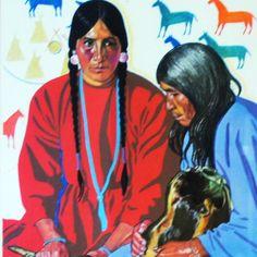 Vintage Art Winold Reiss Framed Print luckystargallery.com $145