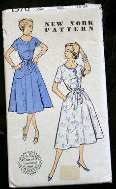 1950s Vintage Sewing Pattern  NEW YORK PATTERN von TheWayWeWear