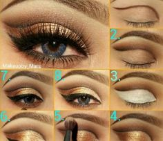 This eyeshadow idea is super hot and it looks amazing! This make up would probably look best on you if u have dark olive skin or light mix with brown or hazel eyes.