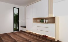 Shoe Cabinet Design JB, Johor Bahru, Malaysia renovation | Lee Siang Renovation…