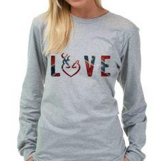 Rebel Flag LOVE Design T-Shirt
