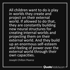 Joseph Chilton Pearce Self Esteem, Joseph, Feelings, Words, Children, Young Children, Self Confidence, Kids, Self Assessment