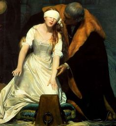 The Execution of Lady Jane Grey (detail) by Paul Delaroche, 1833. Oil on canvas | The National Gallery, London
