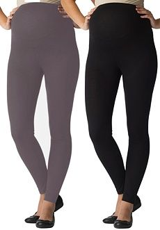 Woman Within Plus Size 2-Pack #Maternity Leggings.Essential to every pregnant woman's wardrobe: our 2-pack plus size maternity leggings fit comfortably, look fabulous, get you through all nine months in style! Designed with a nylon/spandex stretch band, attached to the all-around elastic waist, our knit leggings accommodate your growing belly beautifully. A great value, sold in a 2-pair pack, in 2 versatile colors.