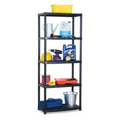 Organize more rugged spaces including garage, shed, and utility room. Metal Shelving Units, Shelving Racks, Wire Shelving, Storage Rack, Display Shelves, Plastic Storage Shelves, Large Storage Baskets, Extra Storage Space, Storage Spaces