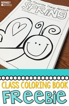 Have your students create a spring themed class coloring book!  Free templates in blog post, plus lots of other activities for the month of April.
