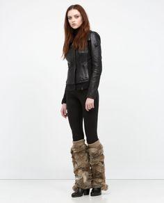 SYLVANNA - rudsack - like these legwarmers in black too Leather Handbags, Black Jeans, Xmas, Footwear, Leather Jacket, Pants, Jackets, Shopping, Design