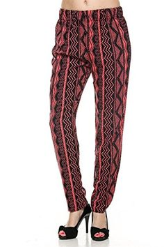 2LUV Womens Tailored Multicolored Jogger Dress Pants Black  Coral M 08K6395411 CORAL -- Click on the image for additional details.