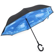 Original Rain Protection Umbrella Reverse Folding Double Layer Inverted Chuva Umbrella Self Stand Inside Out With C-Hook Hands