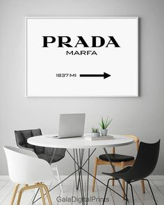 Prada Marfa Print, Prada Marfa, Prada Poster, Prada Marfa Sign, Fashion Print, Prada Printable, Prada, Prada Typography, Fashion Typography, Fashion Printables, Motivational Modern, Typography, Black and White -------------------------------------------------------------------------------------------------------- IF YOU WANT CHANGE NAME and MILES then use the folowing offer: https://www.etsy.com/listing/502159789 ------------------------------------------------------------...