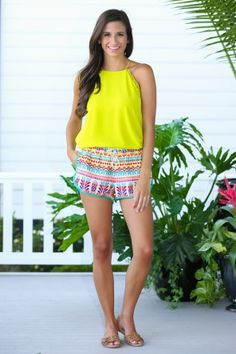 For The Frill Citrine Yellow Top at reddressboutique.com