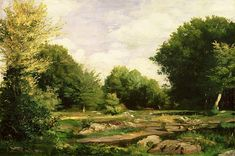Clearing In The Woods Painting by Pierre Auguste Renoir