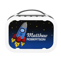 Shop Rocket Launch Personalized Lunch Box created by Personalize it with photos & text or purchase as is! Rocket Launch, School Lunch Box, Metal Lunch Box, Back To School Gifts, Product Launch, Kids, Young Children, Children, Kid