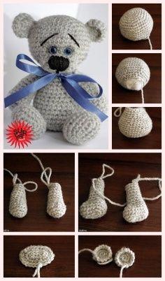 Mesmerizing Crochet an Amigurumi Rabbit Ideas. Lovely Crochet an Amigurumi Rabbit Ideas. Tutorial Amigurumi, Crochet Patterns Amigurumi, Amigurumi Doll, Crochet Dolls, Tutorial Crochet, Crochet Numbers, Crochet Mignon, Crochet Teddy Bear Pattern, Cute Crochet