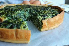 Spinach quiche - Emilie and Lea