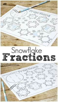 Beginner fractions to slightly more advanced fractions! Snowflake fractions spinner pages make learning fractions more fun!                                                                                                                                                                                 More