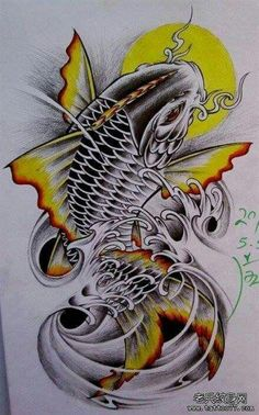 Info and ideas for japanese koi dragon tattoo; The grade of work you will get wi. Dragon Koi Tattoo Design, Koi Dragon Tattoo, Japan Tattoo Design, Tattoo Design Drawings, Pez Koi Tattoo, Koi Tattoo Sleeve, Carp Tattoo, Japanese Koi Fish Tattoo, Koi Fish Drawing
