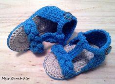 Sandalias a ganchillo para bebé Ya se ha pasado el verano, pero aquí os dejo estas sandalias hechas a crochet. Tampoco hay que olvidar que en otra parte del mundo está acabando el invierno, así que espero que os gusten.