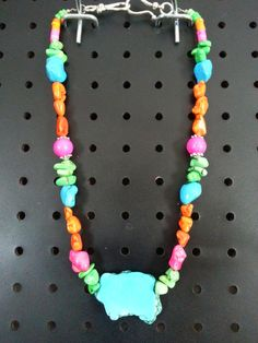 Multi Color Magnesite Chunky Necklace on Etsy, $32.00