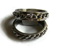 Lil might get Elliot this Spinner Rings, Wedding Bands, Lily, Stainless Steel, Chain, Bracelets, Men, Jewelry, Jewlery