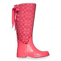purple rainboots | Dream Artists: Coach Rain Boots | Pink too ...