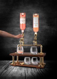 Zwei Flasche Schnaps Spender personalisierte Home Bar | Etsy Tapas Bar, Whisky Spender, Logo Monogramme, Whiskey Dispenser, Diy Home Bar, Wine Rack Storage, Home Bar Designs, Perfect Gift For Him, Artisanal