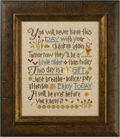 Lizzie Kate Let Them Be Small 162 Counted Cross Stitch Chart Pattern - This saying is super sweet, and appropriate for so many of us Cross Stitch Samplers, Counted Cross Stitch Patterns, Cross Stitch Designs, Cross Stitching, Cross Stitch Embroidery, Embroidery Patterns, Stitching Patterns, Pdf Patterns, Lizzie Kate