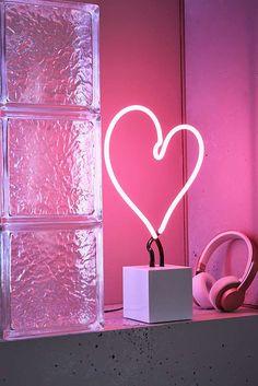 Neon Mfg. Heart Neon Sign Table Lamp