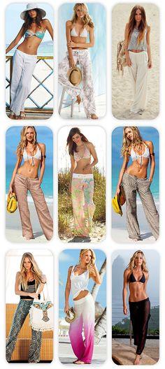 pantelones gia tin paralia/ summer wide pants