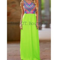 theDOT. Boutique Lime Maxi  Preview of new dresses!  Like this listing to be notified when it becomes available!  Sizes listed under size tab.  Anticipated March 25.  ✔️ Posh Compliant ✔️. theDOT. Dresses Maxi