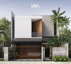 Minimal Architecture, Modern Architecture House, Facade Architecture, Residential Architecture, Villa Design, Facade Design, Exterior Design, Modern House Facades, Modern House Design