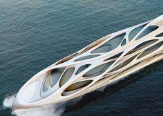 Futuristic Yacht, Superyachts by Zaha Hadid for Blohm+Voss
