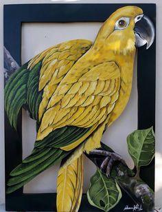 Pássaro Guaruba por Fabiana Kaled