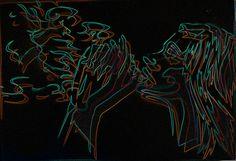 stencil graffiti / photoshop #art #arte #kunst #illustratie #illustration #illustrazione #stencil #stencils #stencilart #graffiti #sprayart #streetart #neon #glowinthedark #lights #colours