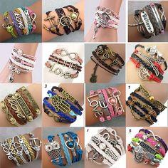 Amazon.com: 16pcs Handmade Braided Multi Layers Vintage Woven Rope... ($23) ❤ liked on Polyvore featuring jewelry, bracelets, layered jewelry, vintage bangle bracelet, infinity bangle bracelet, braid jewelry and bracelets bangle
