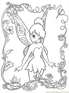 free disney  printables | Coloring Pages Disney Fairy6 (Cartoons > Disney Fairies) - free ...