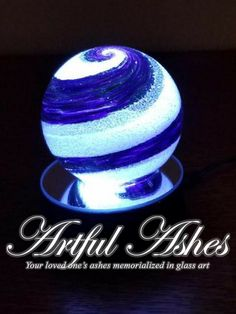 Thank you so much! It's perfect!! Heather Artful Ashes... Your loved ones ashes memorialized within glass art... Greg and Christina 206-409-0337 www.artfulashes.com Funeral Arrangements, Cremation Ashes, Cute Images, Globes, Urn, Glass Art, Perfume Bottles, Healing, Spirit