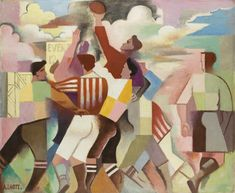 """Here are """"Les joueurs de Rugby"""" (Rugby players), oil on canevas by André Lhote Henri Cartier Bresson, Rugby Pictures, Rugby Poster, Catalogue Raisonne, Georges Braque, Rugby Players, Art Prints For Sale, Sports Art, Affordable Art"""