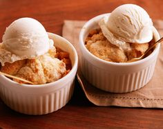 Recipe of the Day: Apple Cobbler for Two with One Apple Prepped in two little ramekins, this scaled-down cobbler makes just enough for two. It takes only one Honeycrisp apple and a single teaspoon of all-purpose flour, and they still leave the oven as bubbling and sticky-sweet as the original.