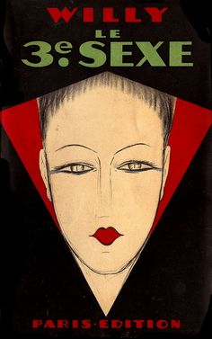 """Art Deco cover art for a French production of """"Willy""""(1920s). via a postcard almanac"""