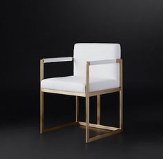RH Modern's Wexler Square Fabric Chair Collection