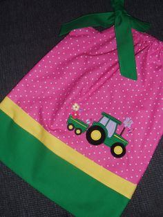 Farm Tractor Pillowcase Dress by Just4Princess on Etsy, $27.00