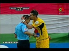Valentine's Day is still over a week away but it seems that some people are already getting into the loving feeling!  Especially this Algerian player who bizarrely decides to kiss the referee after booking him!