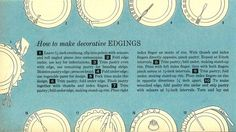 "How to Make Decorative Edgings for Pie Crusts--This was featured in a 1959 issue of ""The American Home"" magazine."