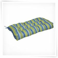 Shop for Poolside Stripe Outdoor Sette Cushion. Outdoor Cushions And Pillows, Bench Cushions, Outdoor Blanket, Seat Pads, Table Linens, Indoor, House Styles, Wicker, Ties