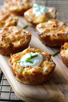 These loaded potato puffs will breathe some new life into your leftover mashed potatoes!!