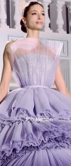 Pink Fashion, Luxury Fashion, Fuchsia, Plum Purple, Purple Rain, Light Purple, Sienna, Ralph And Russo, Ball Gown Dresses